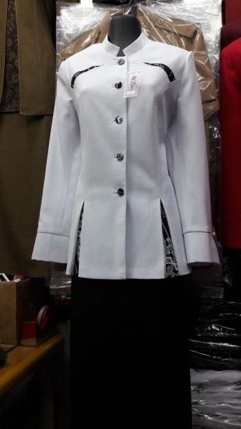 Blazer Rebonia Kombinasi Batik Blazer Busana Kerja Kantor